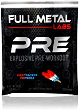 Full Metal Labs PRE Firecracker Popsicle Sample - Max Dosed Pre Workout Powder for Serious Results, Pump, Strength & Energy