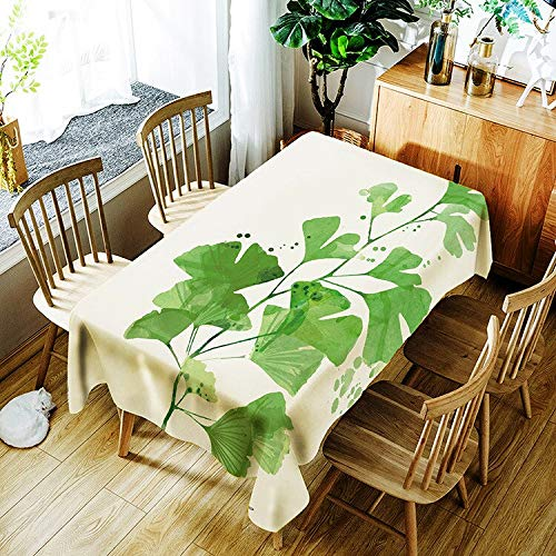 XXDD Nuevo Mantel de Planta Impermeable de impresión Digital 3D Simple y Creativo Mantel de Mesa de Centro Rectangular A1 135x135cm