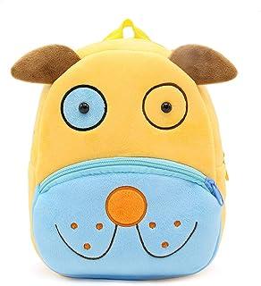 Mochila Infantil para Niños con Figuras de Animales Bonitos Mochilas Escolares para Niños 2-4 Años (Perro)