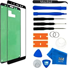 MMOBIEL Front Glass Repair Kit Compatible with Samsung Galaxy A8 and Plus A730 2018 (Black) Display incl. Tool Kit