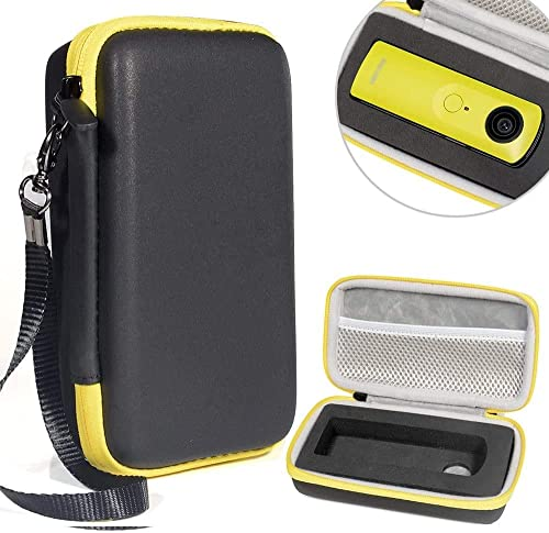 wholesale Protective Case for Ricoh Theta S, V 360 and Theta SC 360 Degree online sale Spherica, Customized Dense Absorbing Sturdy Foam Inlay, sale Mesh Pocket Inside Matte Black+Yellow Zip online sale