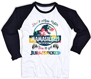 Mamasaurus Shirt Don't Mess with Mamasaurus Tshirt Mommy Saurus T Shirt Mom Long Sleeve Shirts