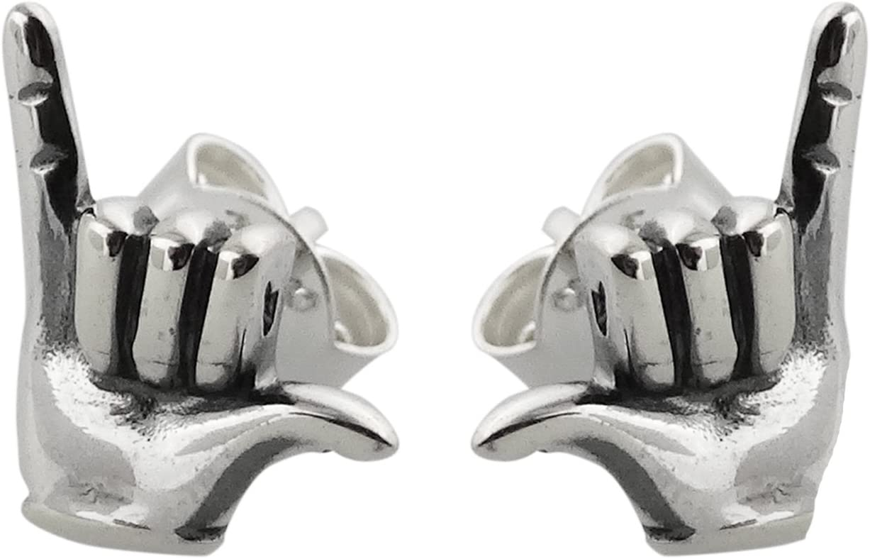 FashionJunkie4Life Sterling Silver Aloha Very popular Hang New Free Shipping Post Loose Stud Ea