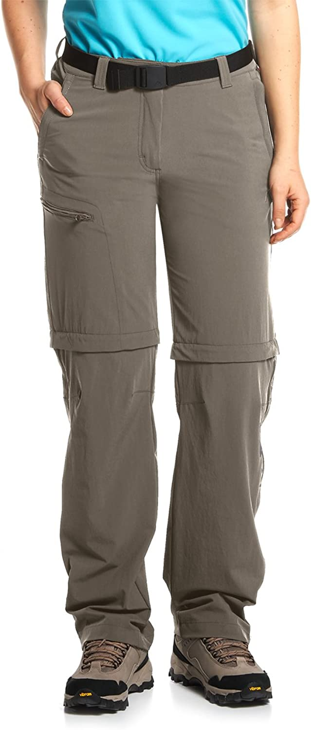 (X-Small, Teak) - Maier Sports Women's Nata Functional Outdoor Zip Off Stretch Pants