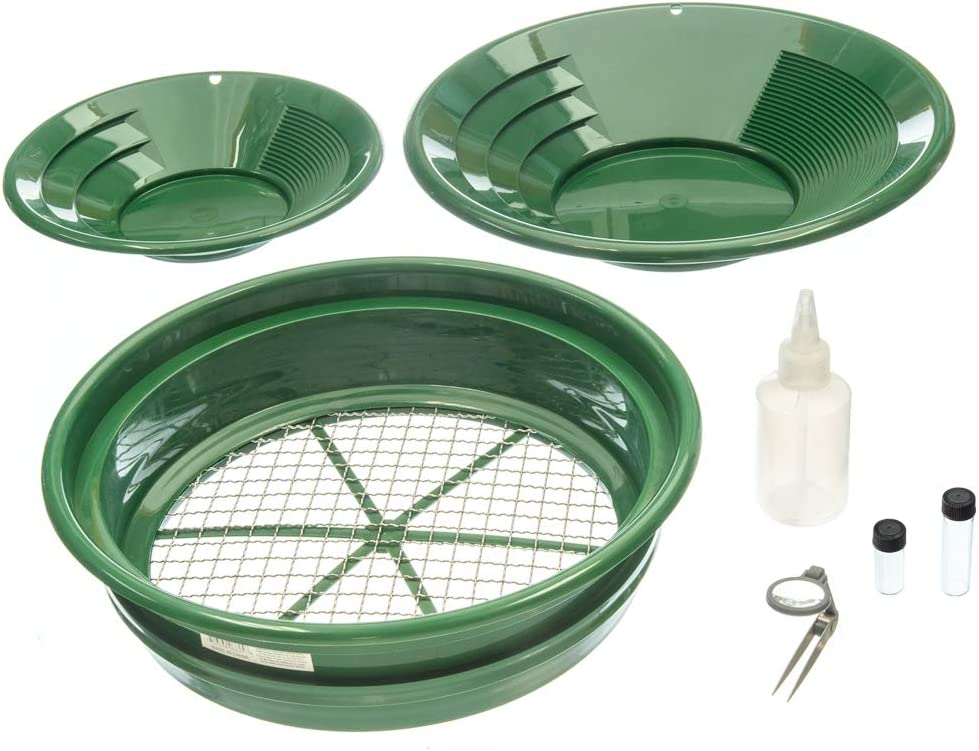 Topics on TV SE Prospector's Choice Gold Panning New arrival Kit Green 7 PC. Pans 2 and