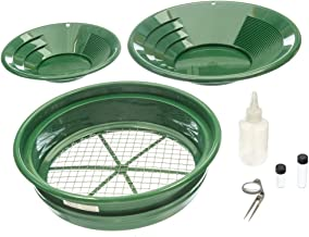 SE Prospector's Choice Gold Panning Kit and 2 Green Pans (7 PC.)