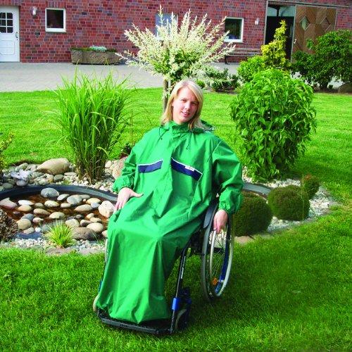 Rollstuhl Regencape Multifunktional mit Armen für Erwachsene 5 aquablau