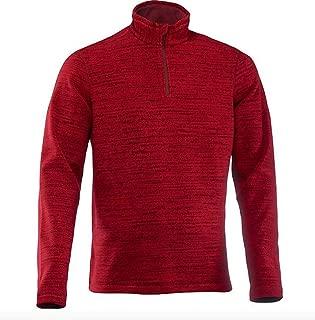 Men's Mountain Hiking Fleece Cherry, Active Sport, 100% ECO-Design Micro Fleece, 100% Recycled Polyester, Size Medium