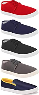 WORLD WEAR FOOTWEAR Men's Casual Shoes (Set of 5 Pairs)