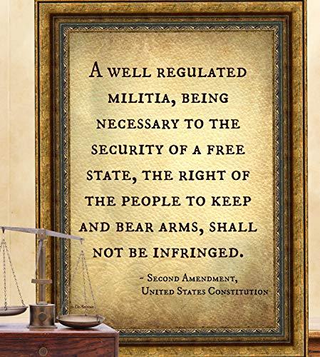 Second Amendment 2nd amendment United States Constitution print President Trump Right to Bear Arms Guns Legal American USA US History Teachers decor Back to School Poster Law School Civil Rights Art
