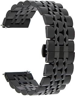 TRUMiRR 22mm Liberación Rápida Banda de Reloj de Acero Inoxidable Mariposa Correa de Hebilla para Samsung Gear S3 Classic Frontier Samsung Galaxy Watch 46 mm