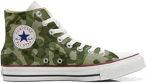 Scarpe Sneakers Personalizzate (Uomo/Donna) Originali Hi Canvas, Sneaker Unisex (Prodotto Artigianale) Mimetiche