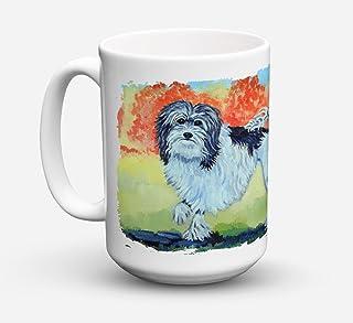 Caroline's Treasures 7510CM15 Lowchen Dishwasher Safe Microwavable Ceramic Coffee Mug, 15 oz, Multicolor