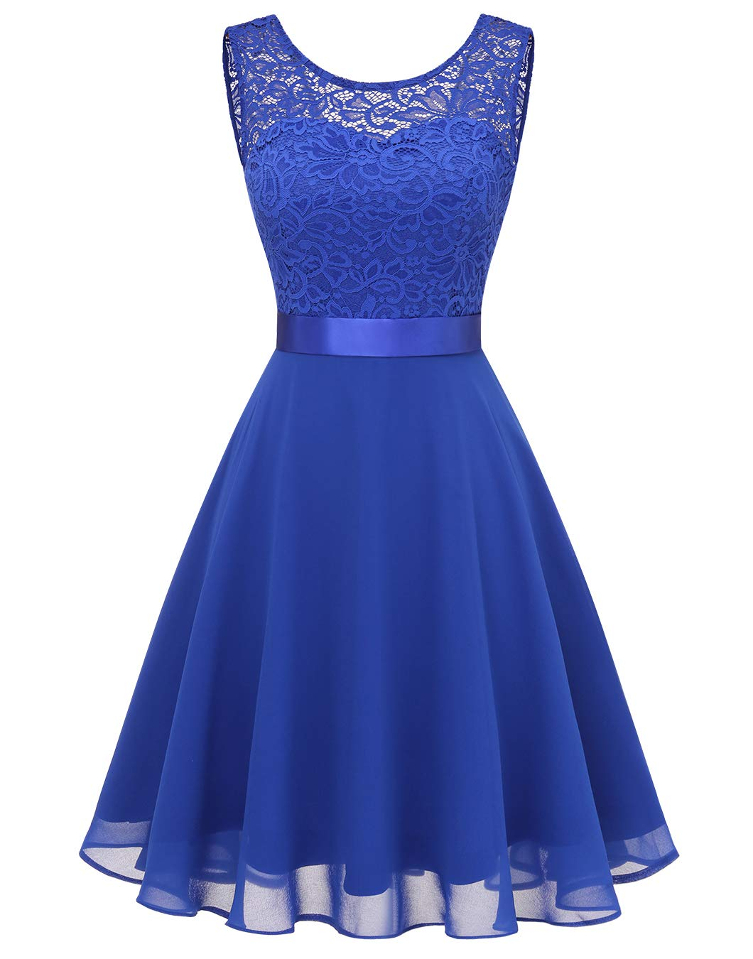 Available at Amazon: BeryLove Women's Short Floral Lace Bridesmaid Dress A-line Swing Party Dress