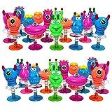 THE TWIDDLERS Monstres Ressort Sauteurs - Lot de 36 Jouets Qui Sautent - Petits Cadeaux Enfants Idéal pour Les Pochettes-Surprise - Piñata - Prix ou Remplissage de Chaussettes de Noël