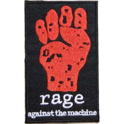 e4cd2d6167695 rage against the machine Heavy Metal Rock Punk Music Band Logo Patch Sew  Iron on Embroidered