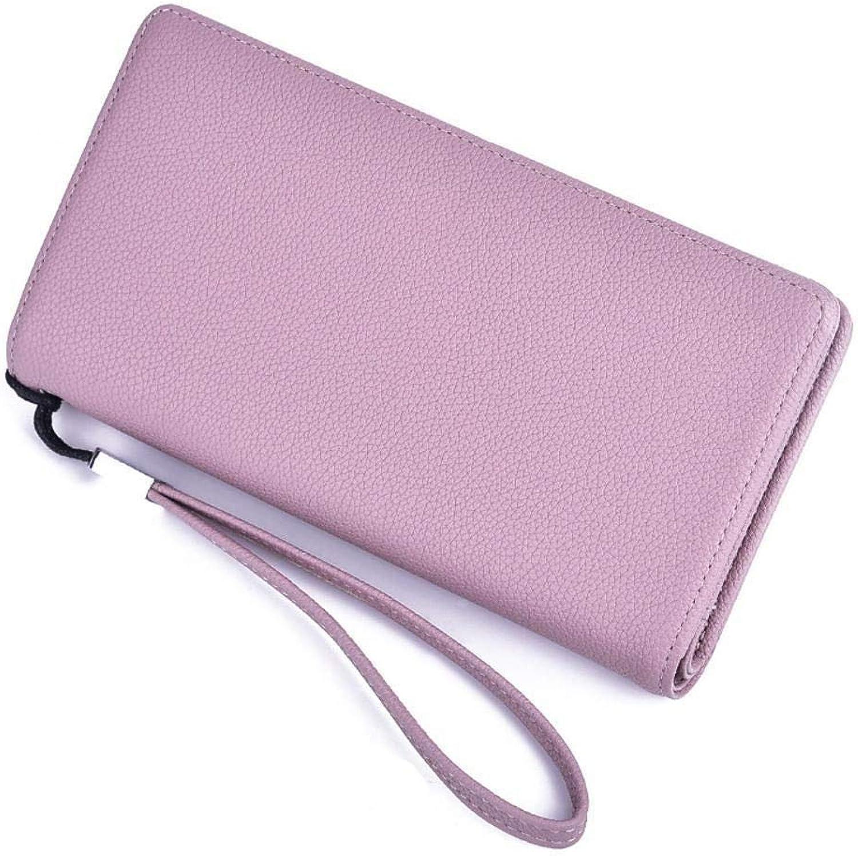 Girls Purse Women's Wallet Lady Wallet MultiCard Large Capacity Zipper Hand Bag Mobile Bag Card Bag (color   E)
