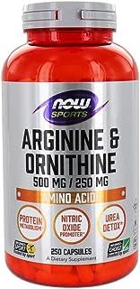 NOW Foods - Arginine & Orthinine 500/250 mg, Amino Acid - 250 Capsules