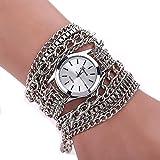 SSITG Wickelarmband Damenuhr Kette Uhrarmband Wickeluhr Armbanduhr Quarzuhr
