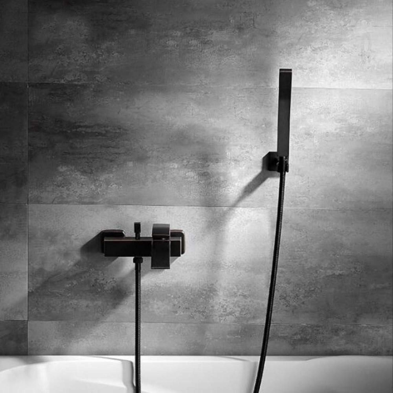 Lddpl Duschset Schwarz Kupfer Square Tube Single Handlebath Duscharmatur Badewanne Mit Warmem Und Kaltem Wasser