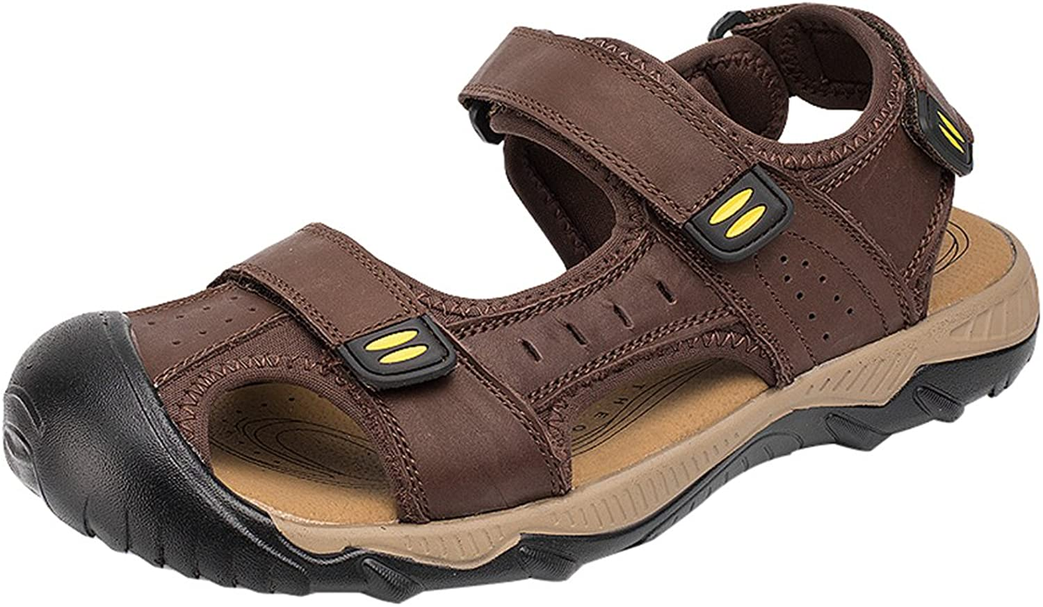 AGOWOO Women's Sandles Outdoor Closed Toe Hiking Beach Sandals