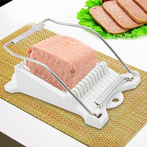 Gaocheng Mehrzweck-Dosen-Fleischschneider, Eierschneider mit 10 langlebigen Edelstahl-Schneiddrähten, 2 Stück weiß
