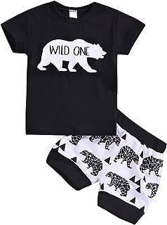 Conjunto de 2 piezas de pantalones cortos para niños sin ma