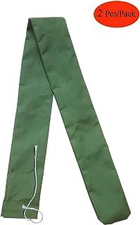 2 Pcs Long Canvas Sandbags - Rain Hurricane Flood Barrier for Home Door - Thickened Canvas Reusable Environmentally friendly Control Water Bags (5 Feet)