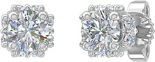 1/2 Carat Diamond Stud Earrings in 14K Gold