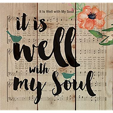 It is Well with My Soul Sheet Music Design 10 x 10 Wood Pallet Design Wall Art Sign Plaque
