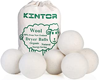 "KINTOR Wool Dryer Balls XL 6 Pack 2.95"", 100% New Zealand Wool Organic Fabric.."