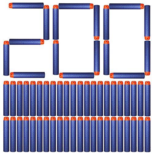 Tomons Refill Darts 200PCS Bullets for Nerf N-Strike Elite Zombie Strike Rebelle - Blue