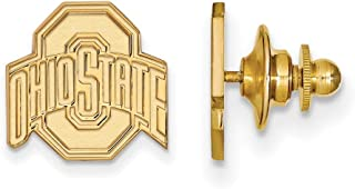 Roy Rose Jewelry Sterling Silver with 14K Yellow Gold-Plated LogoArt Ohio State University Lapel Pin