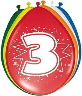 Folat 08203 3. Födelsedagsballonger – 8 stycken, flera färger