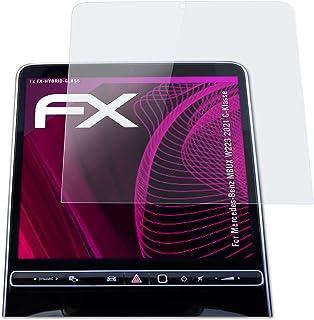 atFoliX Kunststof Gepantserde Glasfolie compatibel met Mercedes-Benz MBUX W223 2021 C-Klasse Glasfolie, 9H Hybrid-Glass FX...