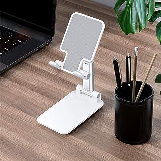 Ajcoflt Suporte de telefone celular Suporte dobrável em altura ajustável em ângulo estável Suporte de mesa portátil compat...