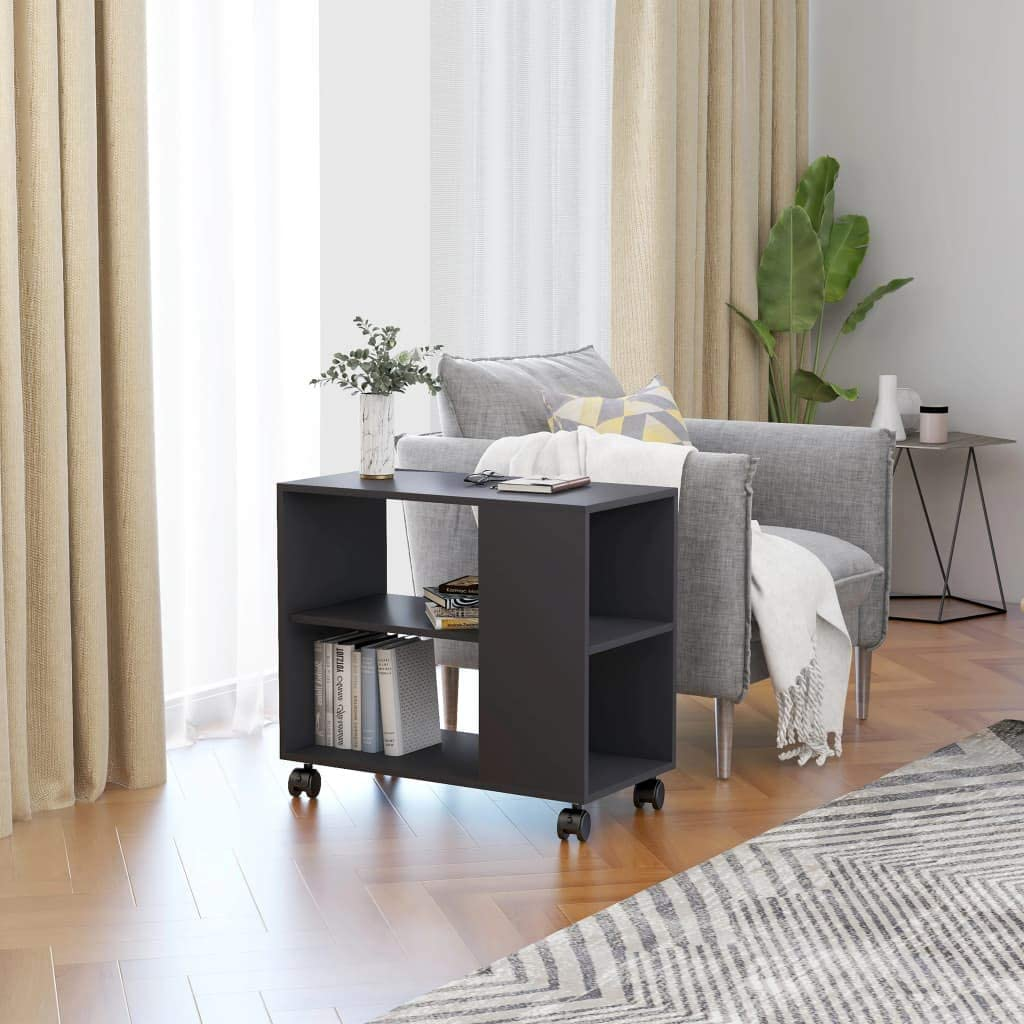 NusGear Side Table Gray Max 67% OFF Chipboard -122 Chicago Mall 27.6