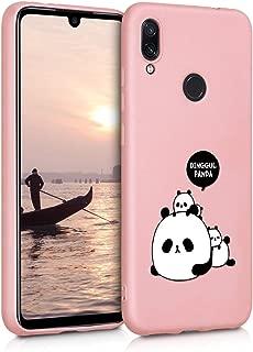 Eouine for Xiaomi Redmi Note 7 Case, Phone Case Silicone Pink with Pattern Ultra Slim Shockproof Soft Rubber Girl Women Cover Bumper Skin for Xiaomi Redmi Note 7 Smartphone, Panda