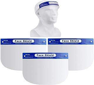 LUTEMA Máscara Transparente de Protección Facial Careta Anti-Salpicaduras Protege contra Saliva Polvo Aceite (3)
