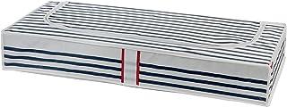 Compactor Marinière Housse de rangement sous lit, Bleu, 100 x 45 x H15 cm, RAN5302