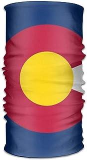 NDJHEH Bandeau Colorado State Flag Magic Headwear Scarf Headbands Bandana Mask Neck Gaiter Head Wrap Mask Sweatband Vêtements