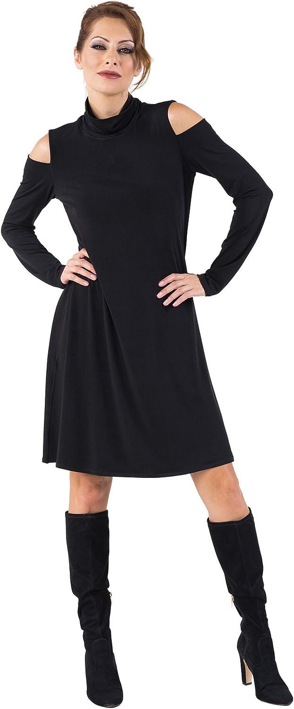 Eva Varro Women's TT Cold Shoulder Dress