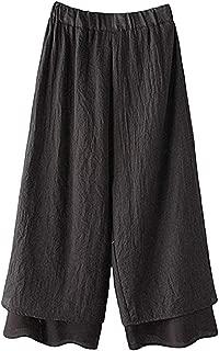 Plus Size Womens Long Pants Solid Loose Ladies Harem Full Length Pants Women Trouser Wide Leggings Clothes Summer