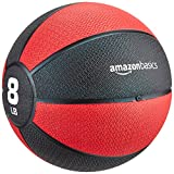 Amazon Basics Workout Fitness Exercise Weighted Medicine Ball - 8 Pounds, Red and Black