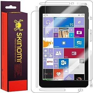 Skinomi Full Body Skin Protector Compatible with Dell Venue 8 Pro (5855)(Screen Protector + Back Cover) TechSkin Full Coverage Clear HD Film