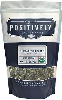 Positively Tea Company, Organic Ti Kuan Yin Oolong, Oolong Tea, Loose Leaf, USDA Organic, 1 Pound Bag