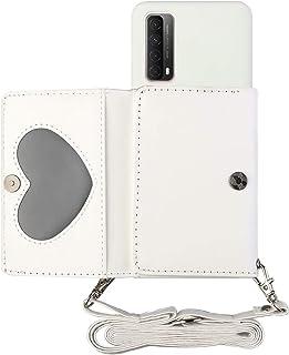 TYWZ Crossbody fodral till Huawei P Smart 2021, axelrem plånbok PU-läder flip fodral med kreditkortshållare stativfunktion...