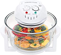 INLIFE 1400W Halogen Convection Oven with Extension Ring Glass 12.7 Quart Prepare Quick Healthy Meals Low Fat for Roasting...
