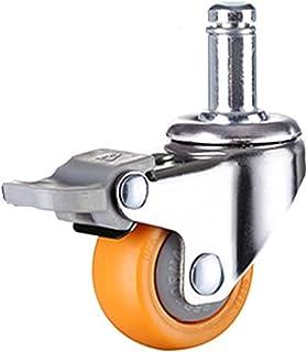 4 Stks 2 Inches 50Mm Zware 160 Kg Oranje Zwenkwielen Trolley Meubels Caster Rubber (Kleur: 4E, Maat: 2 Inch)