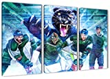 Augsburg Eishockey, Fan Artikel Leinwandbild 3Teiler